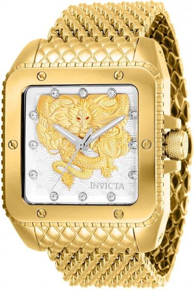 Relógio Invicta Cuadro Automático Original Modelo 28511