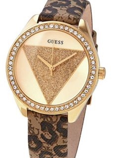 Reloj Guess W0884l9 Leopard Print Leather Tri Glitz