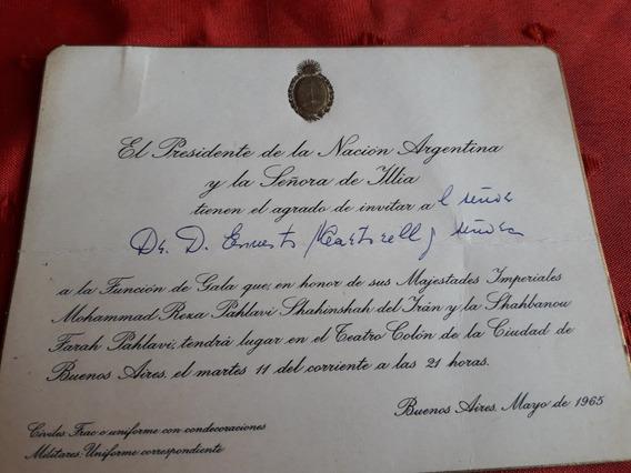 Antigua Tarjeta Presidencial Ilia 1965.