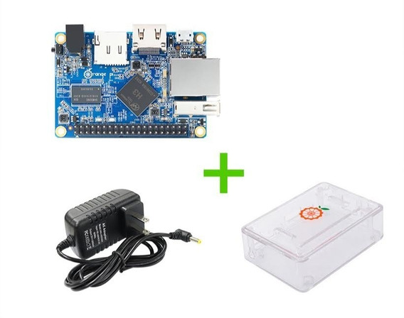 Kit Orange Pi One H3 512mb + Fonte 5v 3a + Case + Cartão 32g