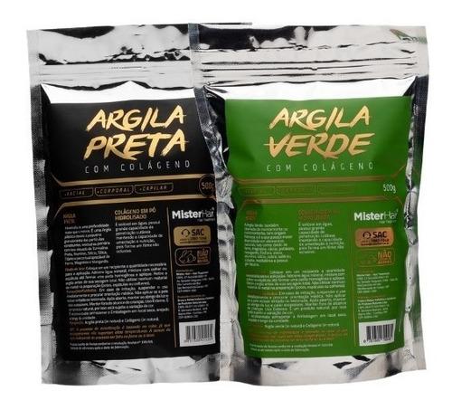 Imagem 1 de 5 de Kit Argila Preta + Argila Verde - Mister Hair