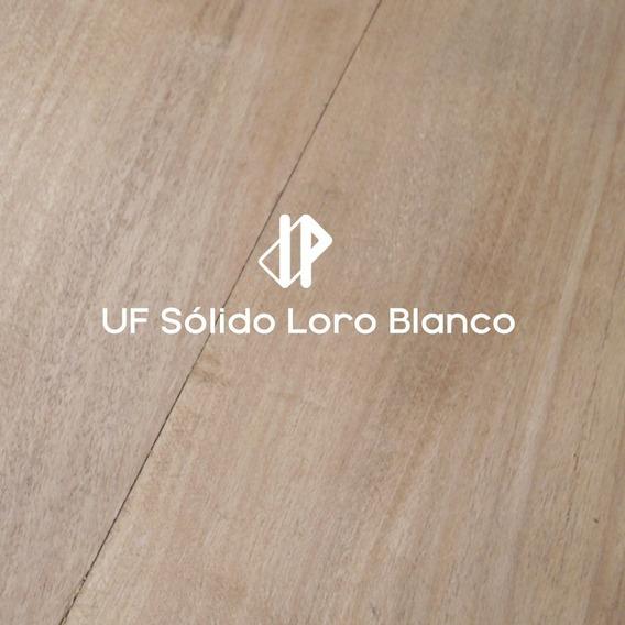 Piso Madera Uf Sólido Loro Blanco 19x90/180mm Indusparquet