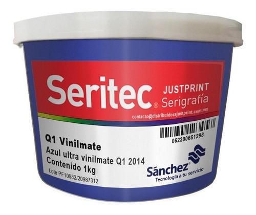 Imagen 1 de 2 de 1 Kg Tinta Vinilmate Azul Ultra Sanchez Serigrafia