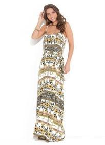 Vestido Feminino Longo Floral Amarelo Plus Size Social