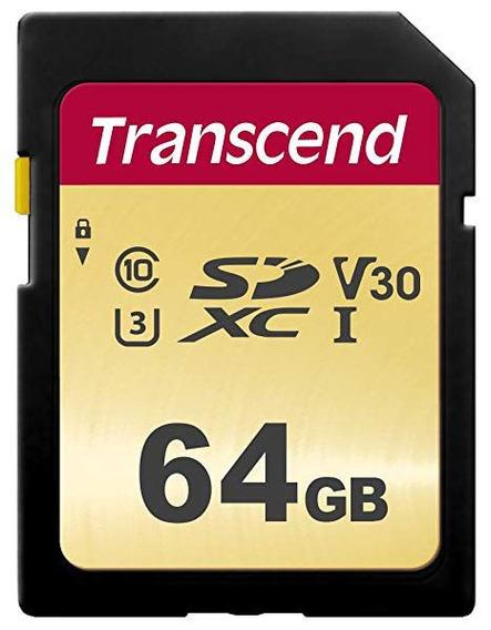 Cartão Memória Sdxc 64gb Transcend Cl10 U3 95mb/s 4 K C/nf