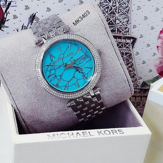 Relógio Michael Kors Mk3403 Prata Cravejado Feminino - Darci