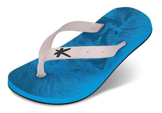 Chinelo Summer Infantil Hcn Azul/transparente Kenner 011739