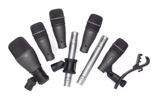 Set Microfono De Bateria Samson Dk707 7 Mic, Soporte Valija