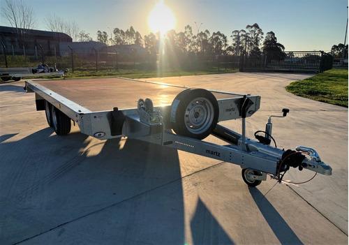 Trailer Temared Carplataform C/frenos 4.50 Mts 2700 Kg