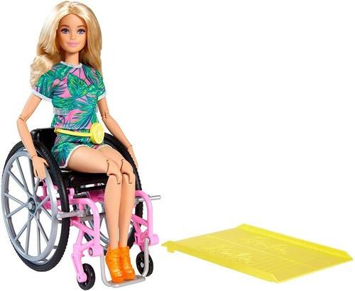 Boneca Barbie Fashionista 165 Loira Cadeirante Articulada