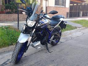 Yamaha Mt 03 Gris Y Azul 2016 - Patentada Y Rodada 2017