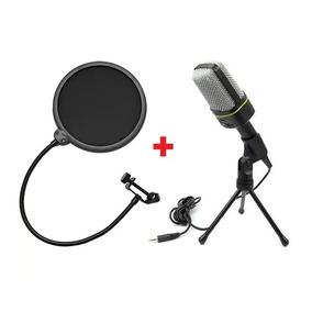 Microfone Estúdio Gravação Sf-920 + Mini Tripé + Pop Filter