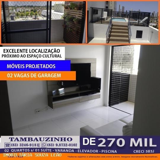 Apartamento Para Venda Em João Pessoa, Tambauzinho, 2 Dormitórios, 1 Suíte, 1 Banheiro, 2 Vagas - 7422