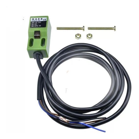 Sensor Indutivo Quadrado 4mm Detecção 10/30vdc Npn N.aberto