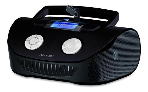 Caixa De Som Portátil Rádio Multilaser Boombox Mp3 Fm - 15w