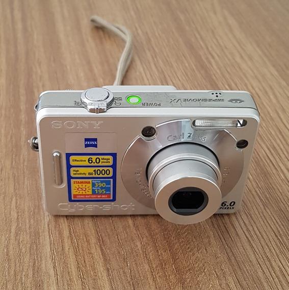 Câmera Digital Cyber-shot Sony Dsc-w50 Prata 6mp