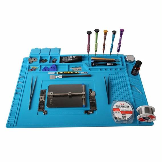 S -160 45x30cm De Solda Esteira Magnético Calor Azul