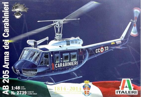 Maqueta Helicoptero Ab 205 Carabinieri Italeri 2739 1/48 F