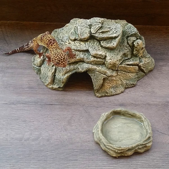 Toca M + Bebedouro P - Leopard Gecko - Corn Snake - Répteis