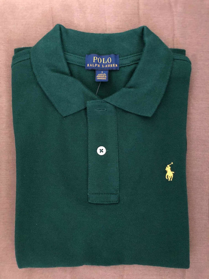 Playera Polo Ralph Lauren Niño Color Verde Talla 5 Y 6