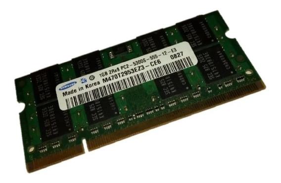 Memória Ddr2 1gb 5300s 2rx8 Samsung Notebook (#1512)