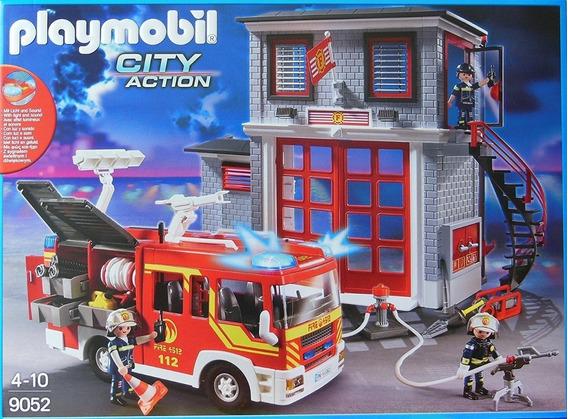 Playmobil 9052 Estação De Bombeiros Com Caminhão Mega Set