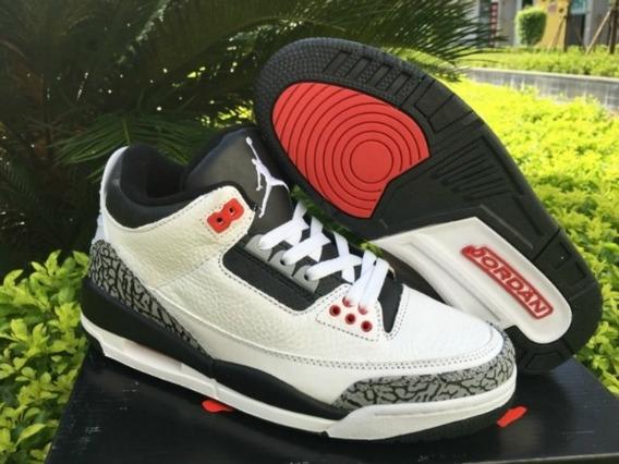 Tênis Masculino Air Jordan Retro 3 Infrared Original