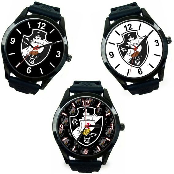 Kit 3 Relógios Pulso Personalizados Pra Torcedores Vascaínos