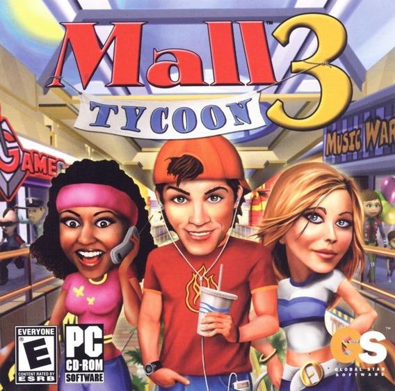 Jogo Novo Midia Fisica Mall Tycoon 3 Original Pra Pc