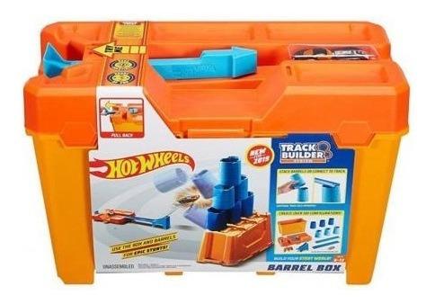 Pista Hot Wheels - Track Builder Barrel Box - Mattel / Novo!