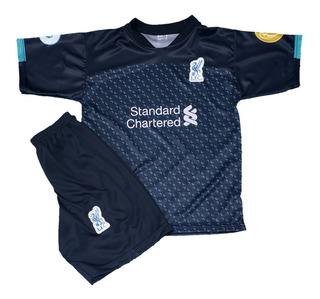 Kit Camisa Liverpool Conjunto Infantil