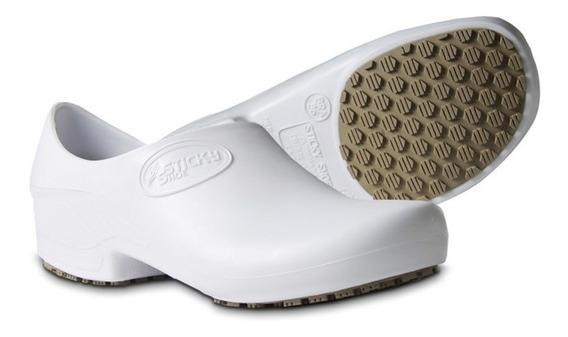 Sapato Sticky Shoe Preto E Branco Calçado Ocupacional