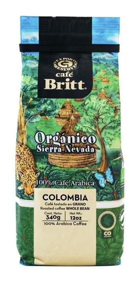 Café Britt Colombia Organico Grano 340 - kg a $118