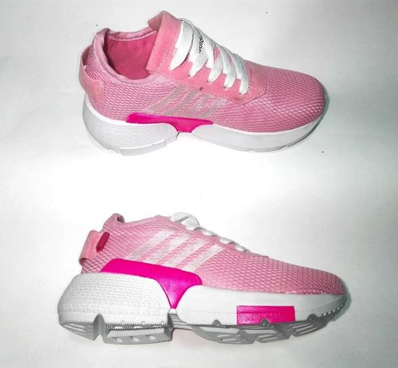 Zapato Tenis Running Mujer Rosados Envio Gratis!!