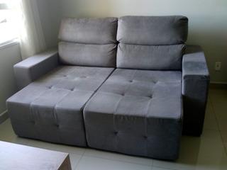 Sofa Retratil Cinza Chaise