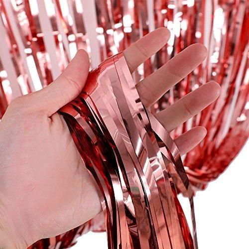 Cortina Lluvia Metalizada 1x 2 M. Color Plateado.