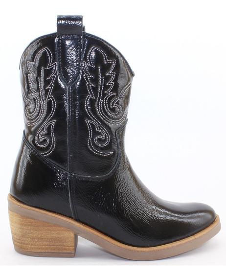 Bota Dama Bulwark Texana Corta 100% Cuero Mujer Nuevas 2222