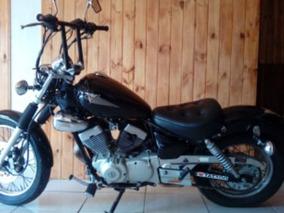 Virago Xv250s, Yamaha, Preta, Modelo 1998, Moto Custom