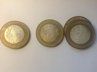Moneda De 100 Pesos Estado De Puebla, Escudo, Plata