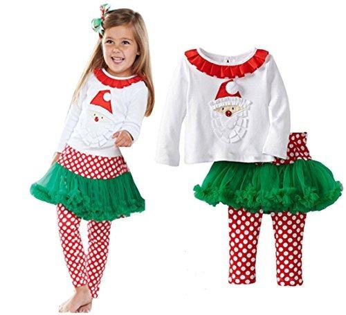 Bebone Baby Girls Santa Claus Trajes De Algodon Santa, 1t