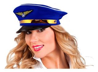 Gorra Capitan Marinero Aviador Kepis Playboy Halloween Mnr