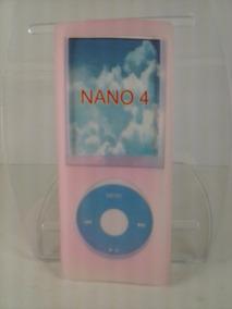 Capa Silicone Rosa Nano 4 4º Geração Apple iPod