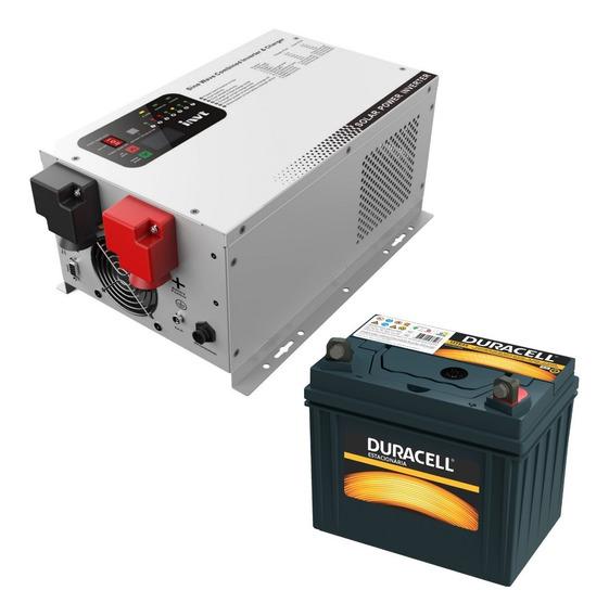 Ups Inversor Onda Pura 3000w 24v 220v 2 Baterias 105 Amp