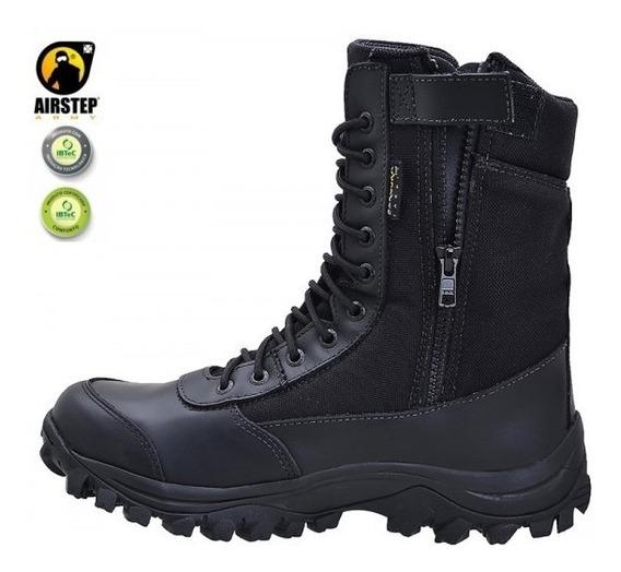 Bota Coturno Airstep C/ Ziper 8628-1 Easy Boot Light - Black
