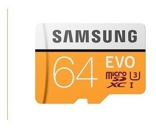 Tarjeta Micro Sdxc Samsung Evo 64 Gb U3 Clase10 4kuhd 100m/s