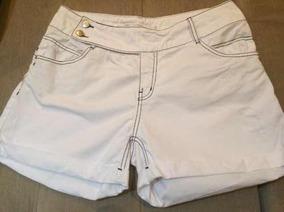 Short Branco Morena Rosa Jeans Botões