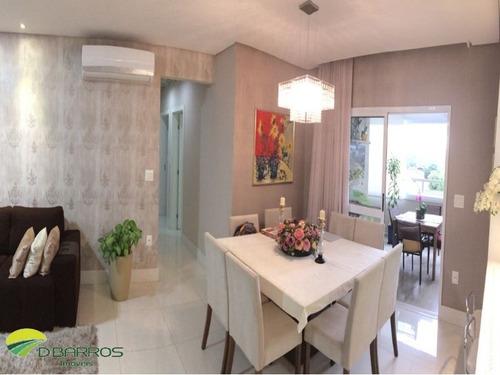 Imagem 1 de 20 de Lindo Apartamento No Residencial Splendor Jaboticabeiras Em Taubaté/sp Com  111m2 , Com 3 Dormitorios Sendo 1 Suite . - 4464 - 33992943