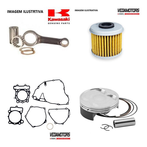 Kit Motor Klx450r 08-21 Pistão + Biela +juntas +filtro Oleo