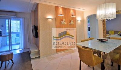 Guarujá Astúrias 3 Dormitórios (suíte), 2 Vagas ,varanda Gourmet Com Vista Mar, Lazer !! - Ap0806