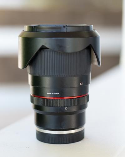 Lente Rokinon 20mm F1.8 Fe Sony E Mount Astrofotografia